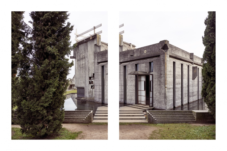 Vista del Tempietto dal giardino a ovest