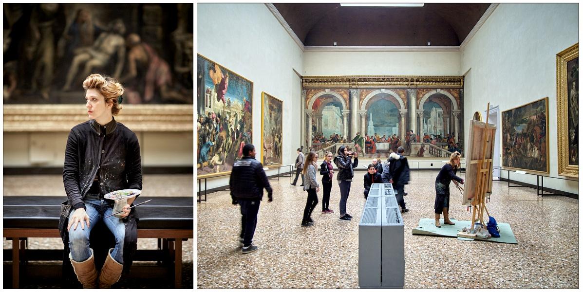 Paola Angelini - Pittrice, residenza presso le Gallerie dell'Accademia di Venezia 2015