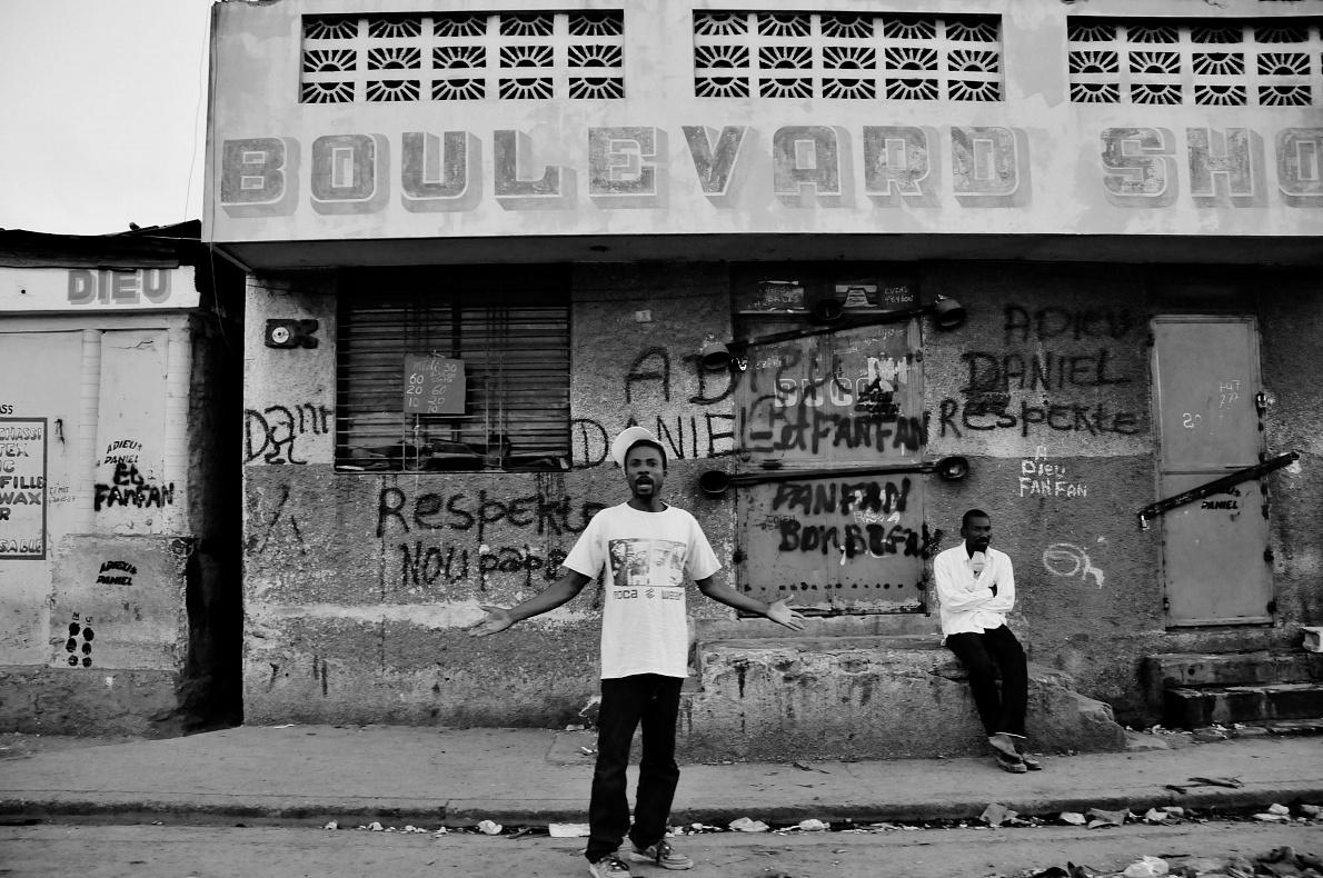 Haiti; Port au Prince; 2010  People in downtown.