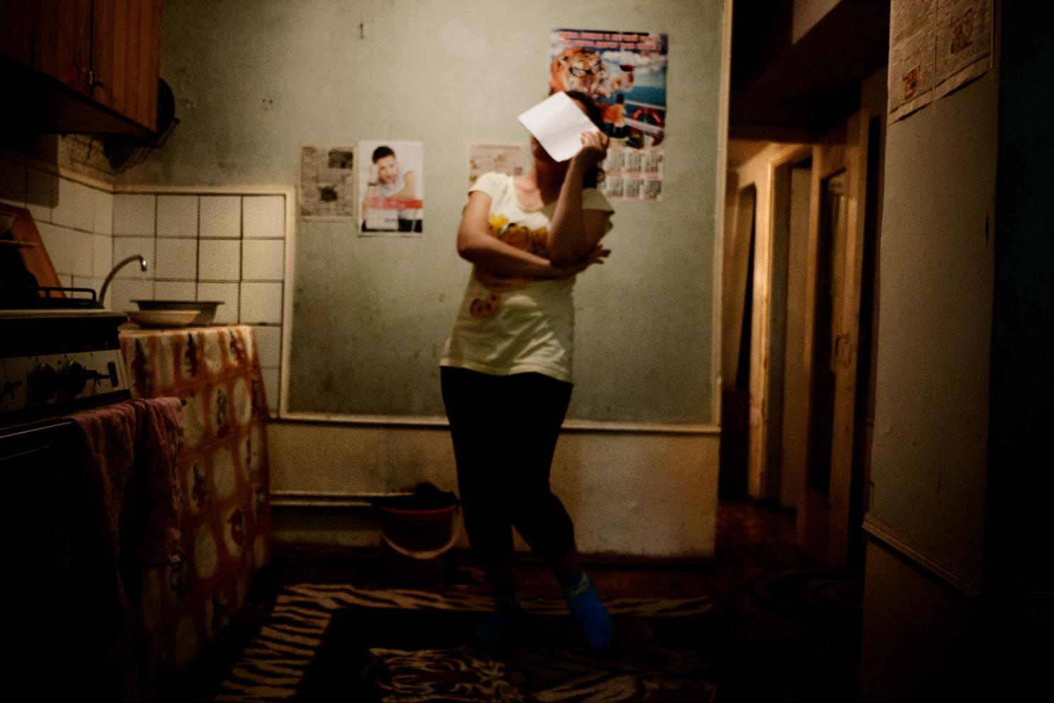 Uzbekistan; Tashkent; 2011;   The interior of a foreign language student's home near Chilonzor.