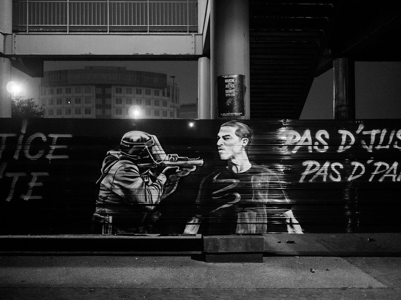 France;Paris;2017  Billboard against the police in Bobigny.