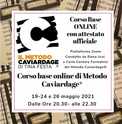 Corso base on line Metodo Caviardage® conducono Elena Urzi e Carla Cantore