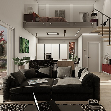 Appartamento con soppalco