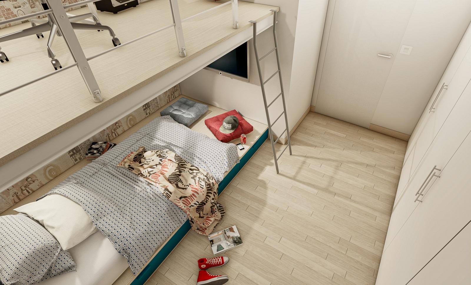 Cameretta con Soppalco Studio