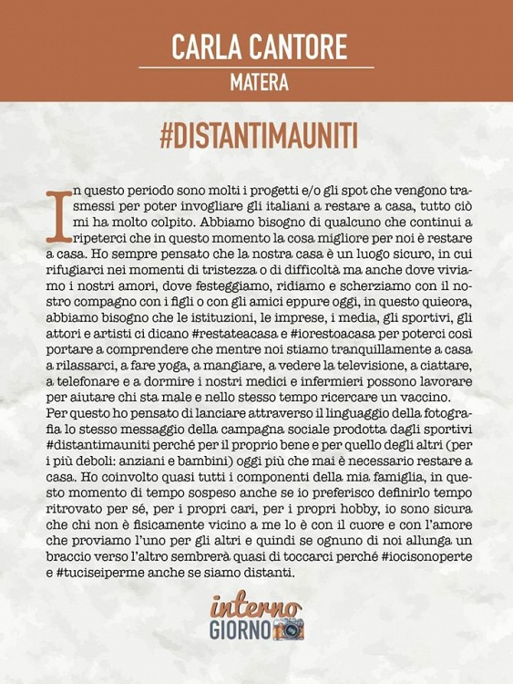 #DistantiMaUniti